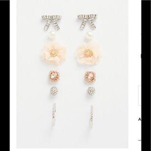 Torrid Silver Pave Bow Stud Earrings Box Set